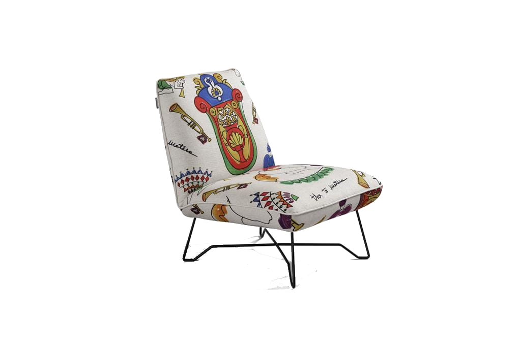 Fotele na metalowych nogach