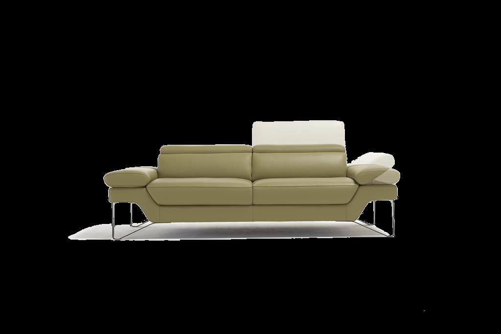 Sofa na metalowych nóżkach