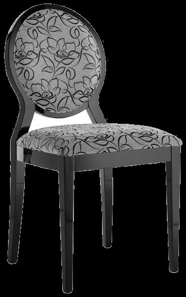Krzesła drewniane z okrągłym oparciem